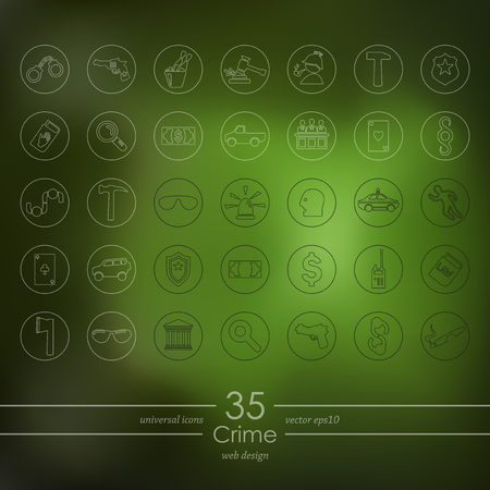 crime: Set of crime icons