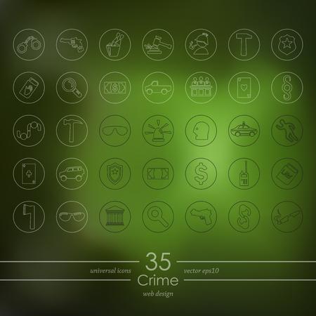 alibi: Set of crime icons