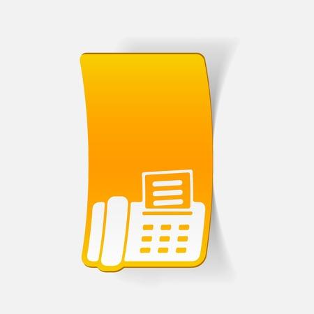 printed machine: realistic design element: fax