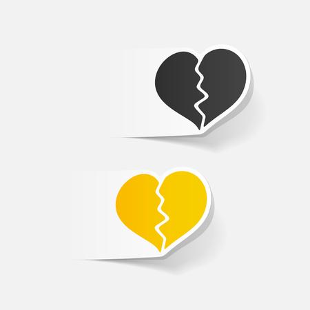 infatuation: realistic design element: broken heart