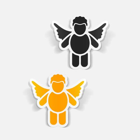 chastity: realistic design element: angel Illustration
