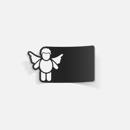 realistic design element: angel