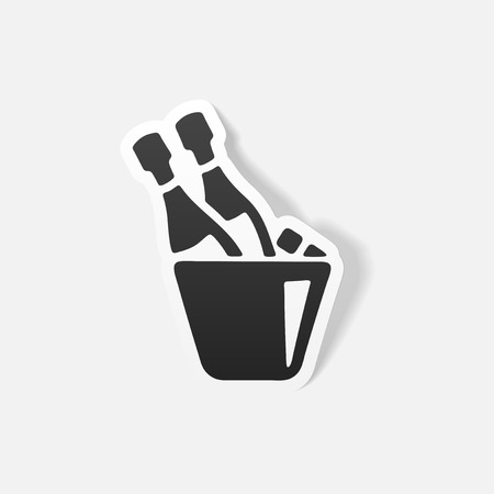 popping cork: realistic design element: champagne Illustration