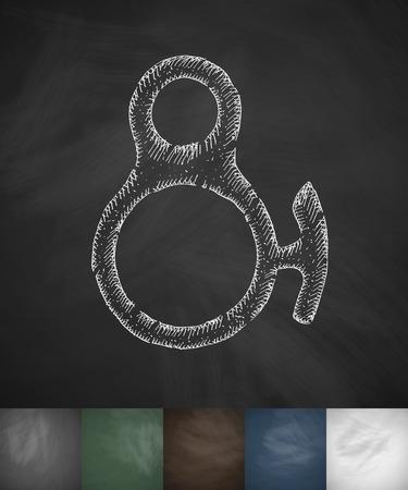 equipment icon. Hand drawn vector illustration. Chalkboard Design Illustration