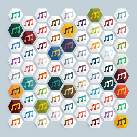 characteristic: Flat design: musical note