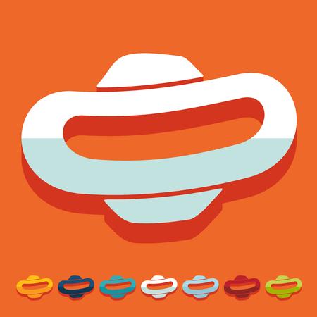 tampon: Flat design: gynecological tampon Illustration