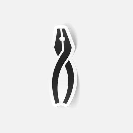 pliers: realistic design element: pliers Illustration