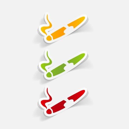 cigar: realistic design element: cigar Illustration