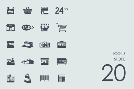 convenience: store vector set of modern simple icons