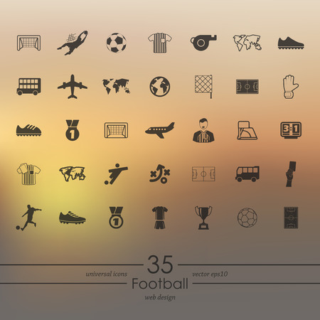 penalty flag: Set of football icons