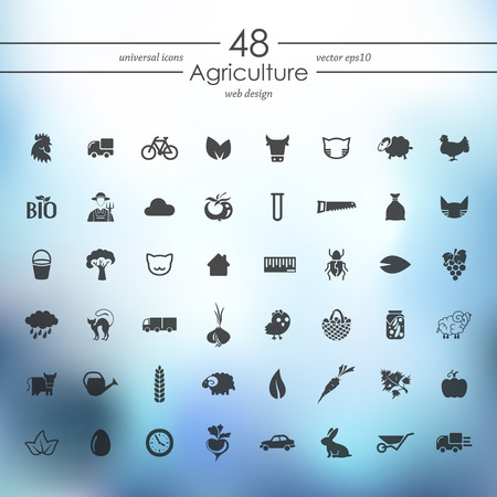 food and beverage: Set of agriculture icons Illustration