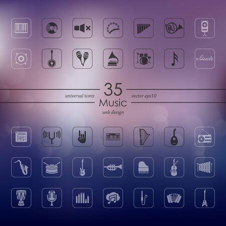 philharmonic: Set of music icons