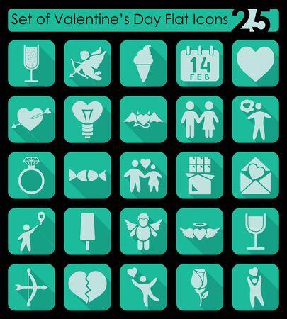 intimacy: Set of Valentines Day icons