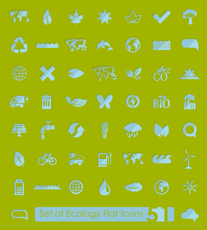 ecology icons: Set of ecology icons Illustration