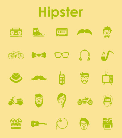 admirer: Set of hipster simple icons
