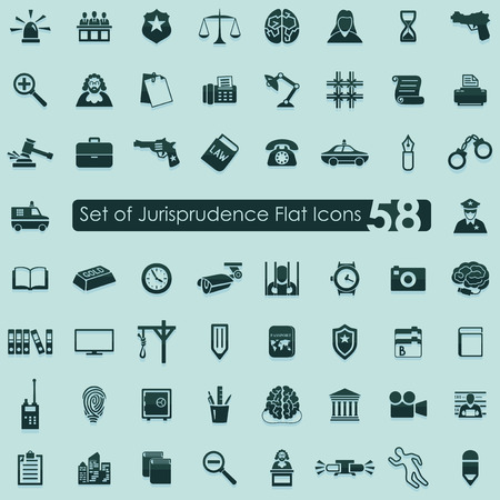 jurisprudence: Set of jurisprudence icons Illustration