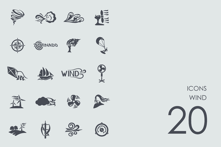 flurry: wind vector set of modern simple icons