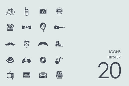 admirer: hipster vector set of modern simple icons