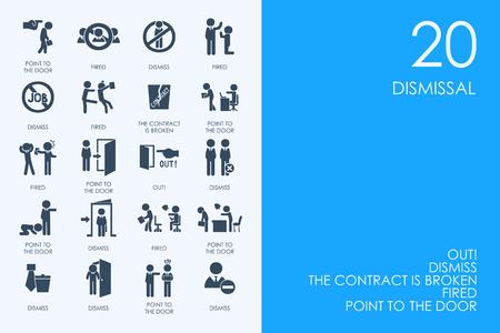 BLUE HAMSTER Bibliotheek ontslag vector set van de moderne eenvoudige pictogrammen