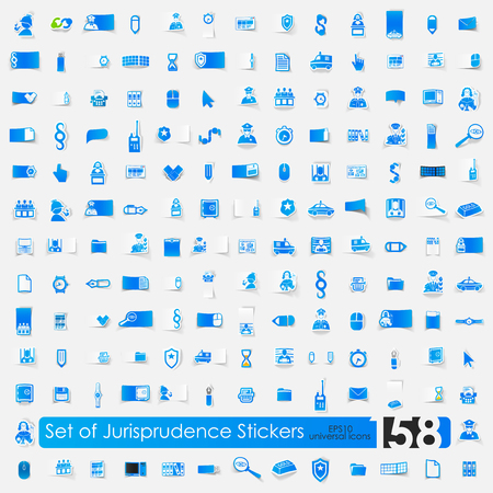 jurisprudence: Set of jurisprudence stickers