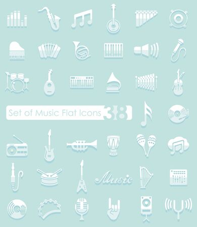 philharmonic: Set of music flat icons for Web and Mobile Applications