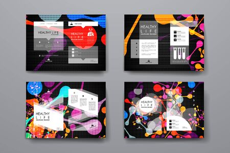 bases: Set of brochure, poster templates in healthcare style. Beautiful design and layout Illustration