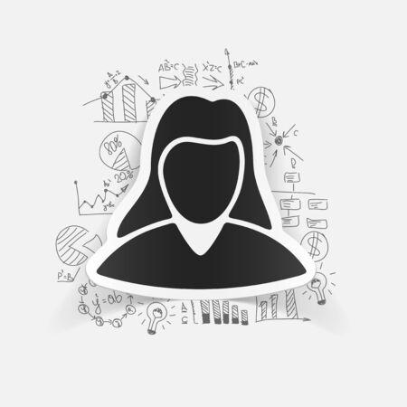 formulas: drawing business formulas. woman