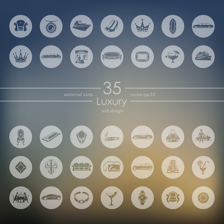 furniture transport: luxury modern icons for mobile interface on blurred background