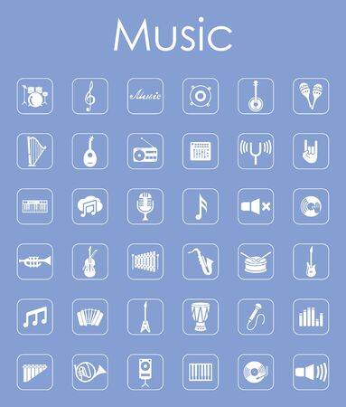 workmanship: It is a set of music simple web icons Illustration