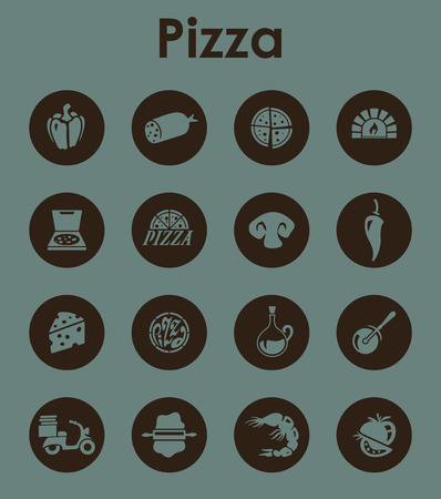 button mushroom: It is a set of pizza simple web icons