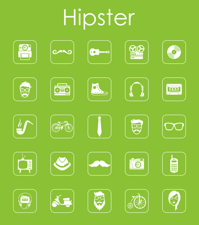 admirer: It is a set of hipster simple web icons Illustration