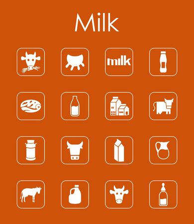 udder: It is a set of milk simple web icons
