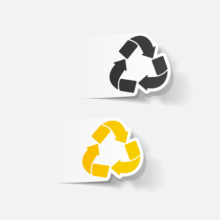 recycle sign: realistic design element: recycle sign