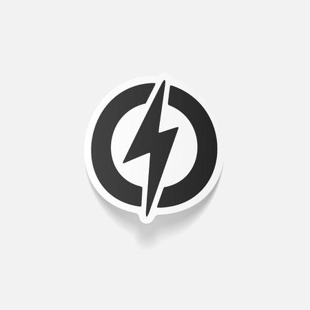 ecologist: realistic design element: lightning bolt