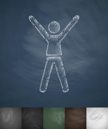 accessibility icon. Hand drawn vector illustration. Chalkboard Design