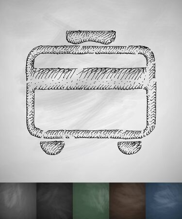 travel card: travel card icon. Hand drawn vector illustration. Chalkboard Design Illustration