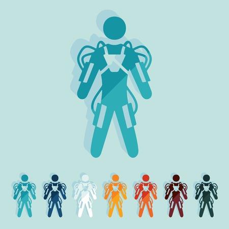 exoskeleton: Flat design: exoskeleton