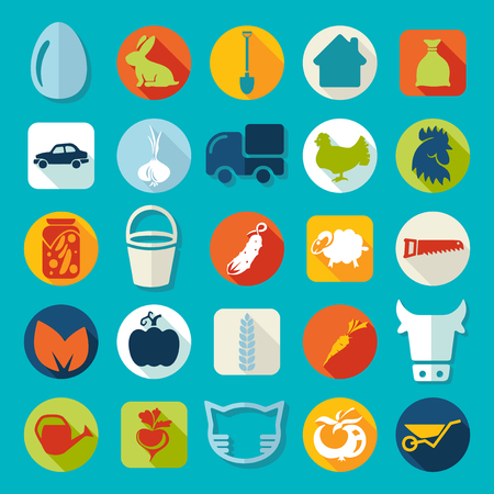 Set of agriculture icons Illustration