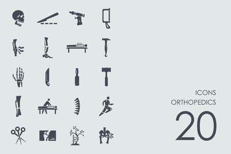 orthopedics: orthopedics vector set of modern simple icons
