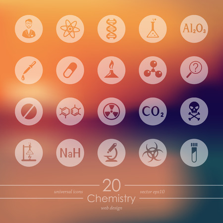toxicity: chemistry modern icons for mobile interface on blurred background