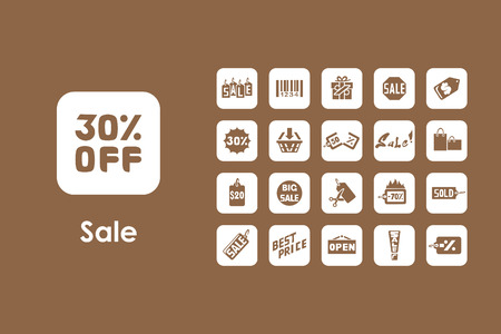 commodity: It is a set of sale simple web icons