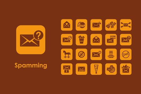 spamming: It is a set of spamming simple web icons