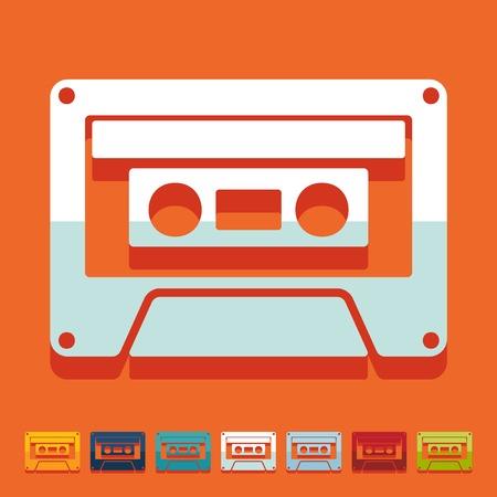 Flat design: audiocassette Illustration