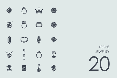 jewelry vector: jewelry vector set of modern simple icons