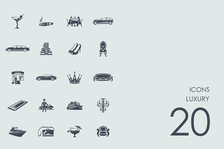 luxury vector set of modern simple icons Illustration