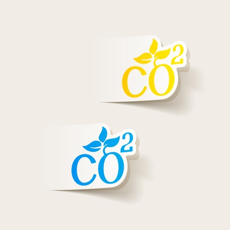 ecological adaptation: realistic design element: co2 sign dioxide