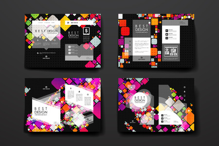 broshure: Set of brochure, poster templates in abstract background style. Beautiful design and layout Illustration