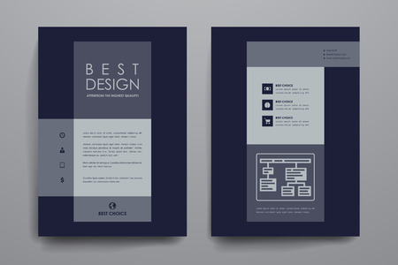 broshure: Set of brochure, poster templates in business style. Beautiful design and layout