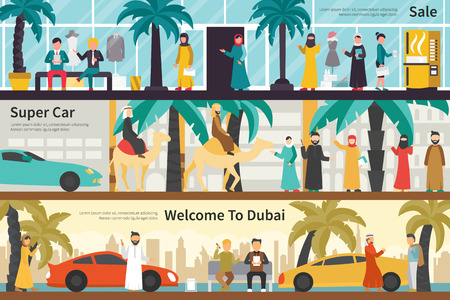 super car: Sale Super Car Welcome To Dubai flat office interior outdoor concept web. Career Chart Fun Illustration