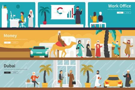 united arab emirate: Money Dubai flat office interior outdoor concept web. Career Chart Fun